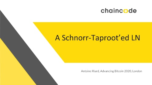 A Schnorr-Taproot'ed Lightning