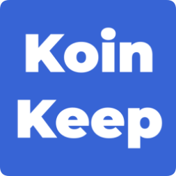 the koinkeep logo which is a type based logo